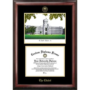 NCAA Citadel Bulldogs Gold Embossed Diploma with Campus Images Lithograph Frame By Campus Images
