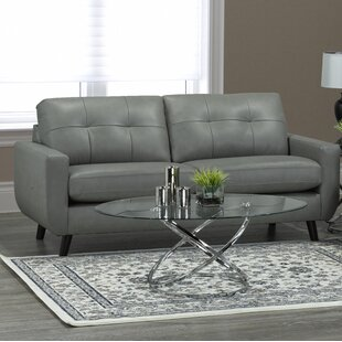Lathrop Genuine Leather Sofa by Brayden Studio Today Only Sale
