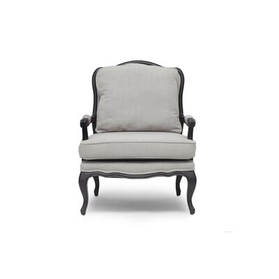 Aadi Armchair Upholstery Color: Gray, Leg Color: Black by One Allium Way