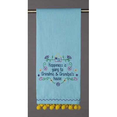 August Grove Happiness Is Goinig To Grandma Pom Pom Kitchen Tea Towel August Grove Dailymail