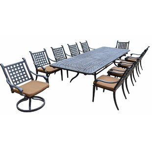 Arness 14 Piece Dining Set and Bistro Set