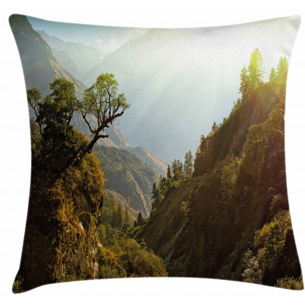 East Urban Home Forest Nepal Himalaya Mountains Indoor Outdoor 28 Throw Pillow Cover Wayfair