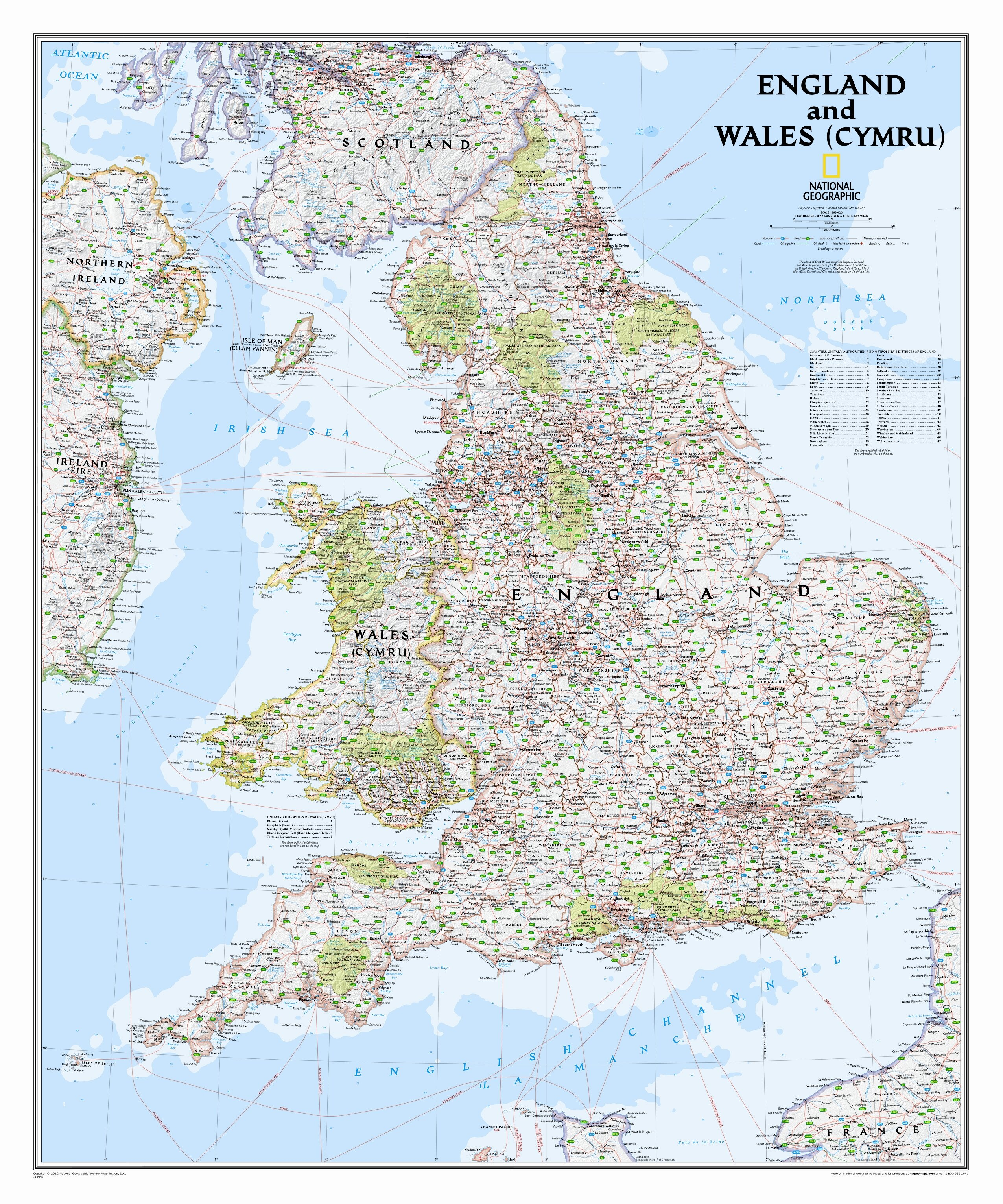 Map Of England England.National Geographic Maps England And Wales Classic Wall Map 36 X