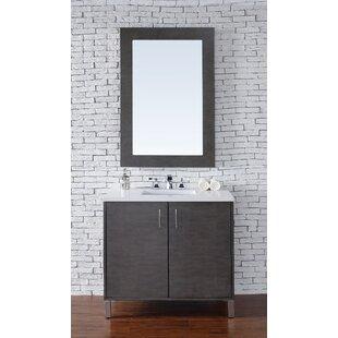 Cordie 36 Single American Walnut Bathroom Vanity Set by Orren Ellis