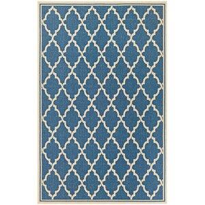 Cardwell Blue Indoor/Outdoor Area Rug
