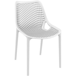 Deines Modern Stacking Patio Dining Chair (Set of 4)