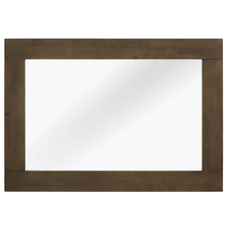 Burson Wood Frame Mirror in Walnut