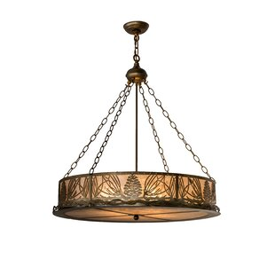 Meyda Tiffany Mountain Pine 4-Light Pendant