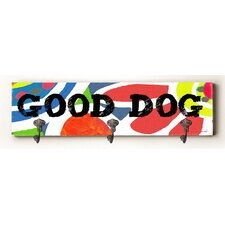 Good Dog Solid Wood Wall Mounted Coat Rack by Zipcode Design