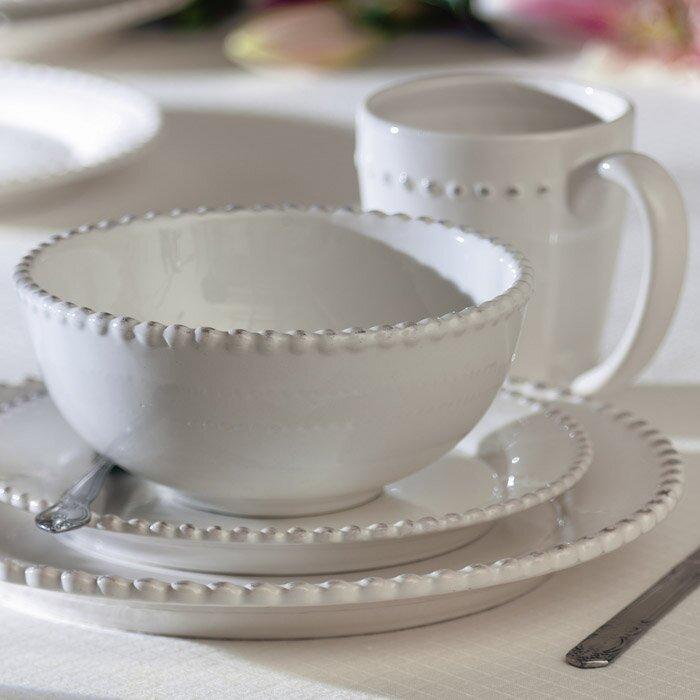 milford 16 piece dinnerware set service for 4