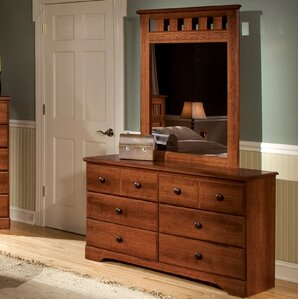 Gladstone 6 Drawer Double Dresser with Mirror by Alcott Hill