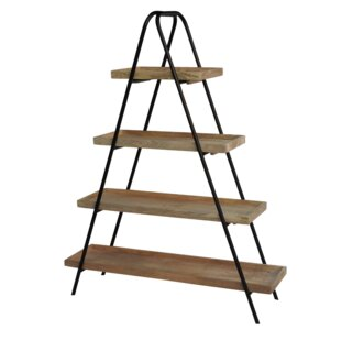 Purcell Iron and Wood Ladder Bookcase by 17 Stories