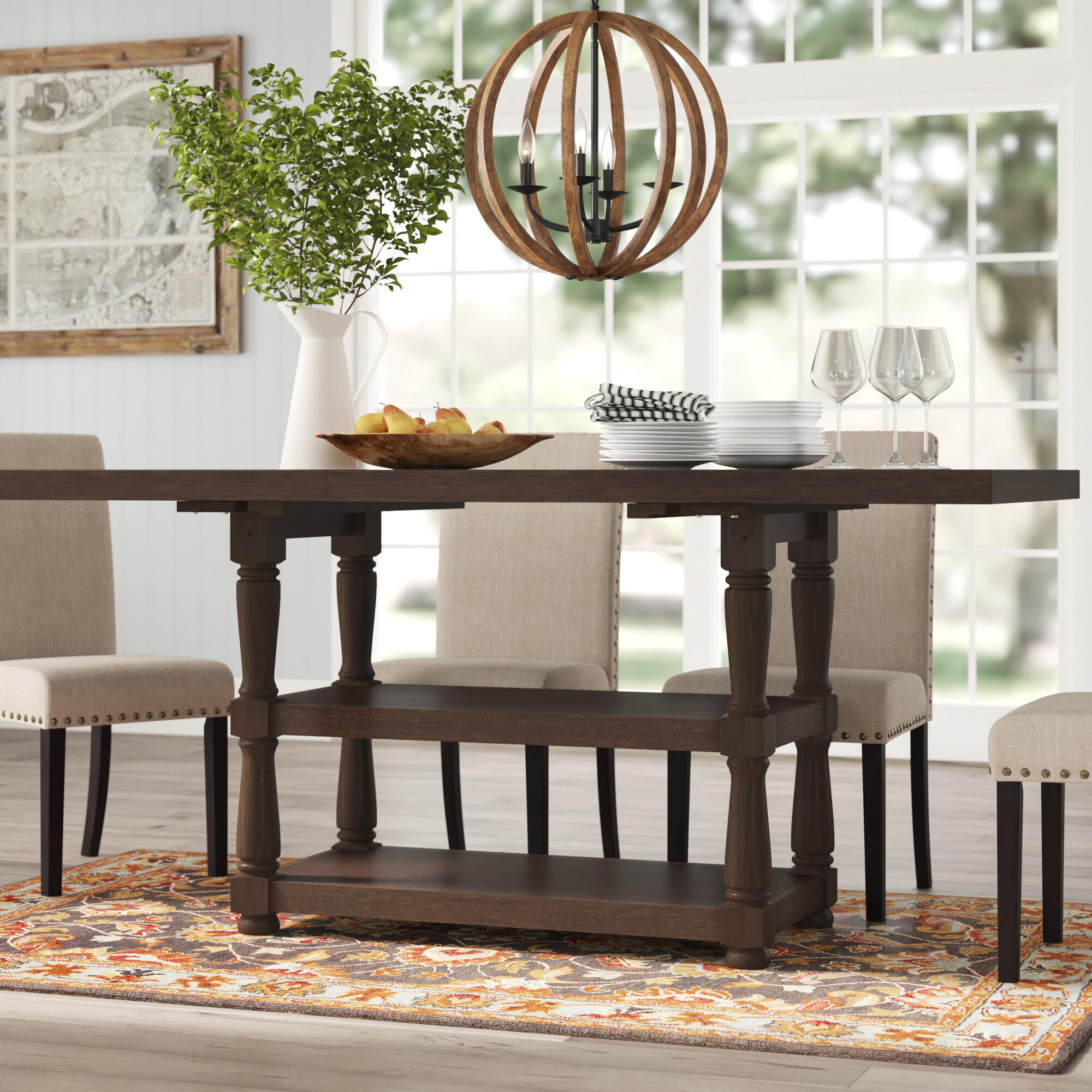 Picture of: Broadway Counter Height Extendable Dining Table Reviews Birch Lane