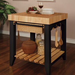Color Story Prep Table with Butcher Block Top by Powell Furniture