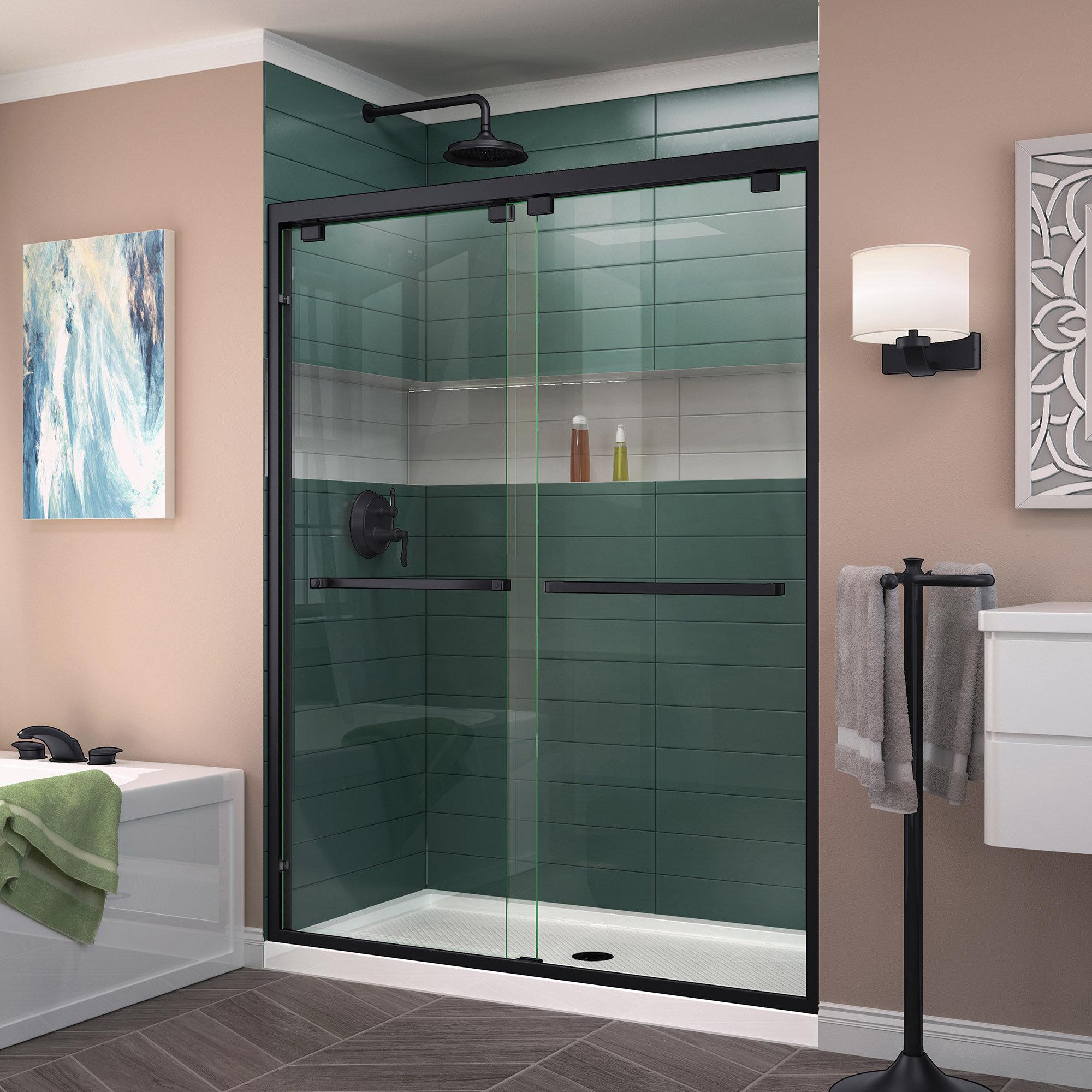 Dreamline Encore 60 X 76 Bypass Semi Frameless Shower Door With