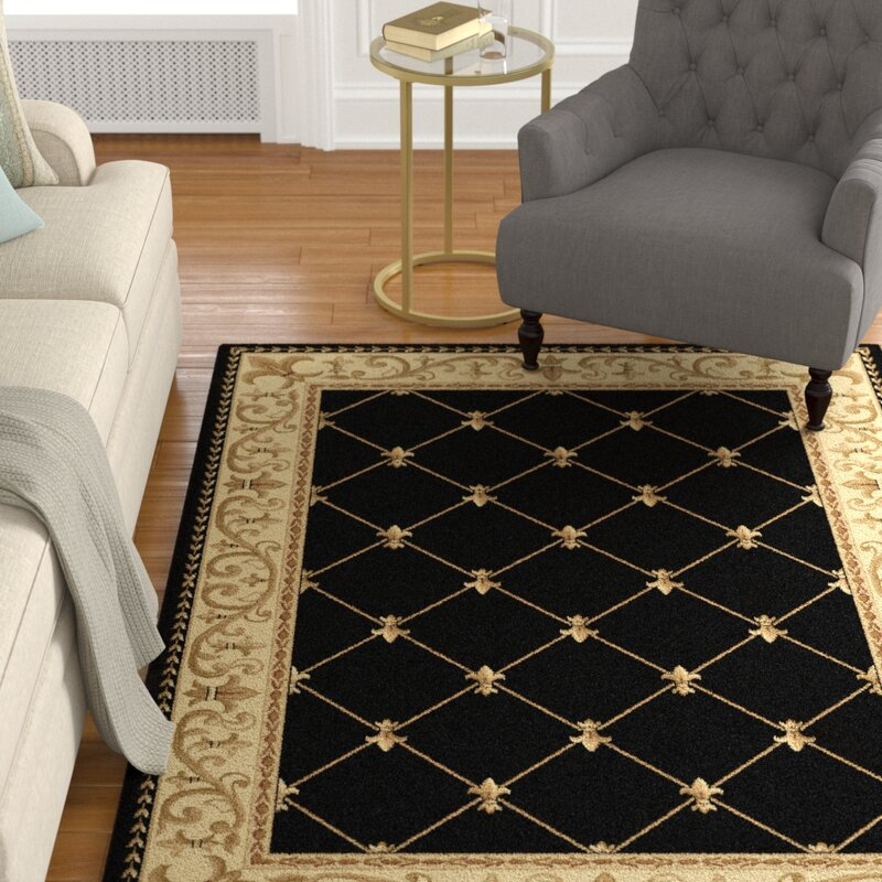 Strange Clarence Black Gold Area Rug Download Free Architecture Designs Crovemadebymaigaardcom