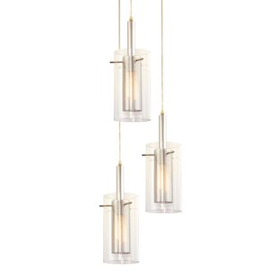 Swan Contemporary 3-Light Pendant by Orren Ellis