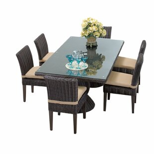 Mejia 8 Piece Outdoor Patio Dining Set with Cushion