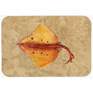 Blonde Ray Stingray Glass Cutting Board By Caroline's Treasures