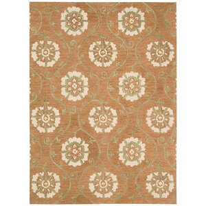 Donnellson Hand-Tufted Persimmon Area Rug