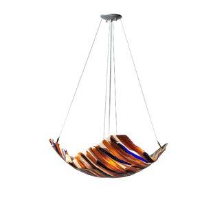 Meyda Tiffany Oceano Fused Glass 4-Light Novelty Chandelier