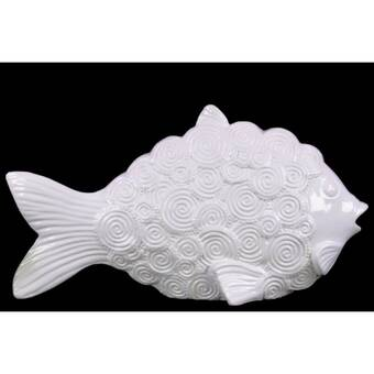 Bay Isle Home Mcnamara Engraved Hexagonal Scales Fish