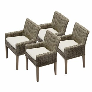 Cape Cod Patio Dining Chair with Cushion (Set of 4)
