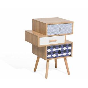 Find Joleen 3 Drawer Nightstand by Wrought Studio