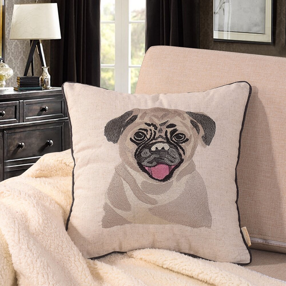Calla Angel Bulldog Embroidered Throw Pillow Wayfair