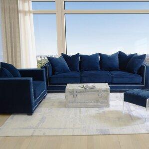 Blue Living Room Sets You\'ll Love | Wayfair