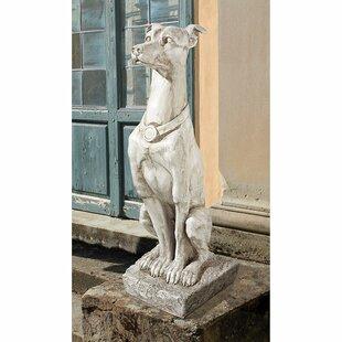 Design Toscano Art Deco Whippet Greyhound Sentinel Dog Statue