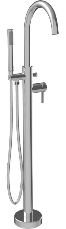A&E Bath and Shower Single Handle Floor Mounted Freestanding Tub Filler