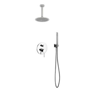 Rebrilliant Bustillos Diverter Shower Faucet with Metal Lever Handle