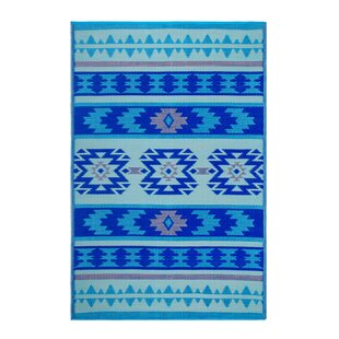 Reviews Conner Blue Indoor/Outdoor Area Rug By Union Rustic