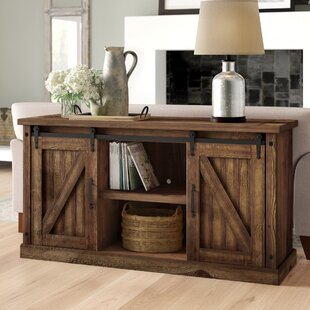 Gracie Oaks Oxner Barn Door Console Table
