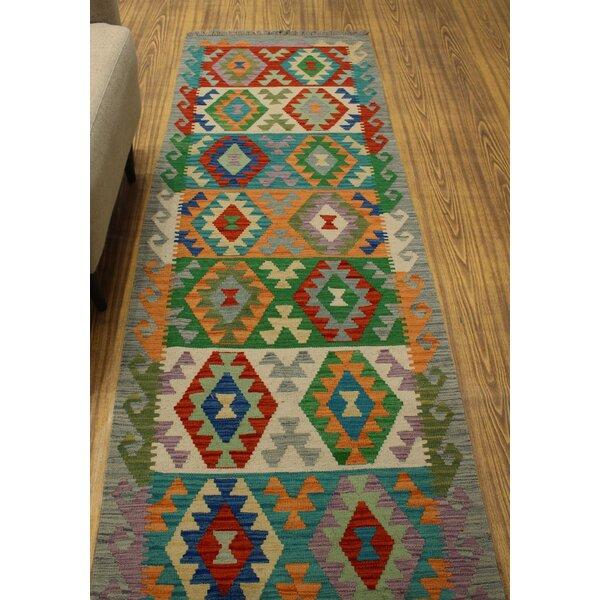 Foundry Select Hults Handmade Kilim Wool Gray Rug Wayfair