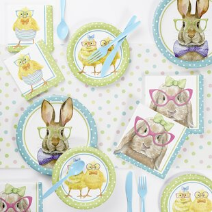 Holleman Bunny and Friends Paper/Plastic Disposable Party Supplies Kit