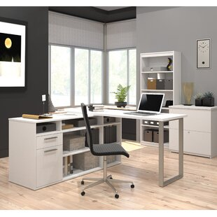 Mercury Row Alves 3 Piece L-Shape Desk Office Suite