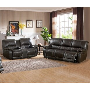 Walborn Reclining 2 Piece Leather Living ..