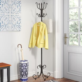 Three Posts Black Cloister Coat Rack