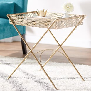 Taryn Metal End Table by Ebern..