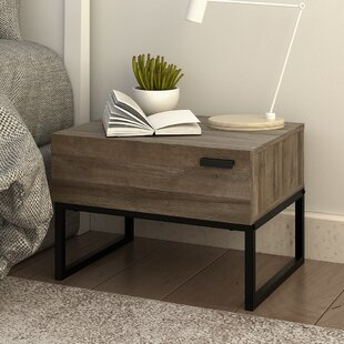 Krystal Wood 1 Drawer Nightstand by Union Rustic