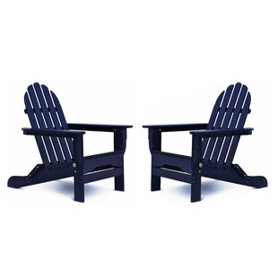 Maven Plastic Folding Adirondack Chair (Set of 2) by Longshore Tides