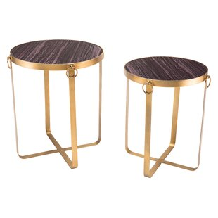 Jun 2 Piece Nesting Tables by Everly Quinn