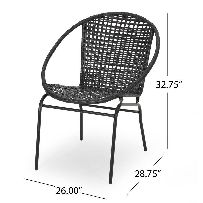 Desdemona Outdoor Modern Patio Chair