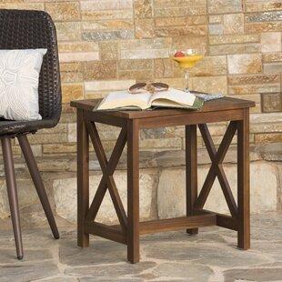 Taraska Outdoor Wood End Table