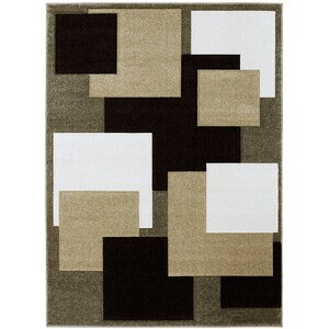 Green/Beige Area Rug