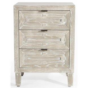 Croft 3 Drawer Nightstand