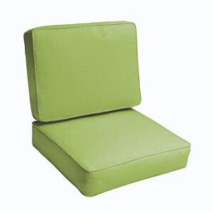 2 Piece Outdoor Chair Cushion Set