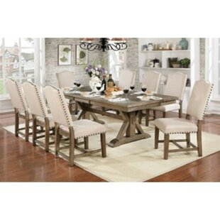 Lowell 9 Piece Drop Leaf Solid Wood Dining Set One Allium Way